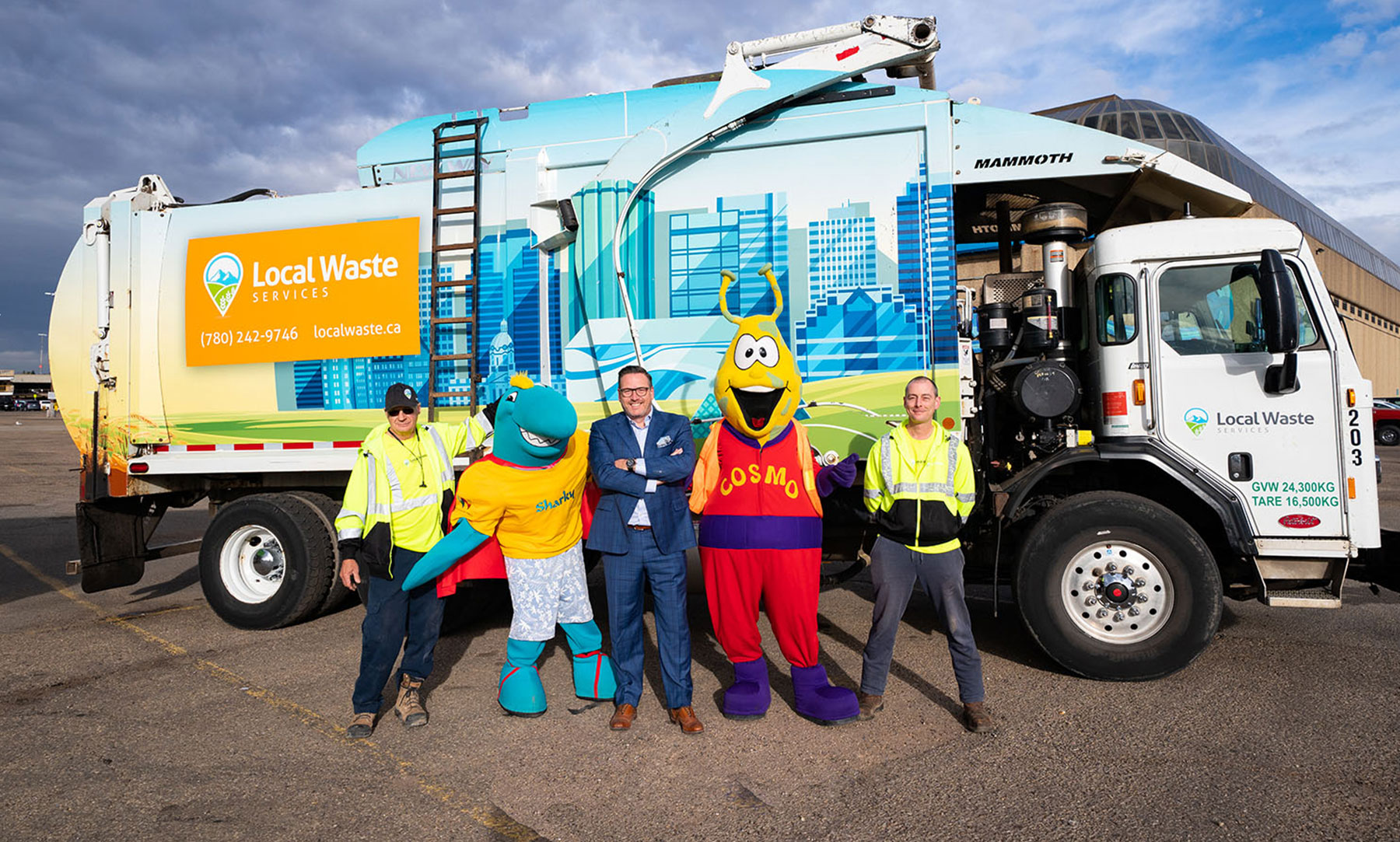West Edmonton Mall and Local Waste Partner for Waste Collection & Recycling Services and 'Mayor of the Month' Charitable Initiative